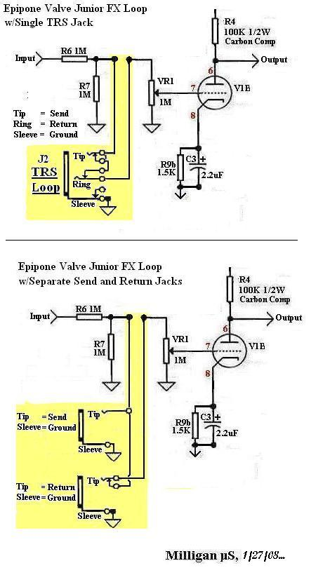 epiphone valve junior effects loop - ultimate guitar epiphone valve junior schematic epiphone pick up wiring schematic