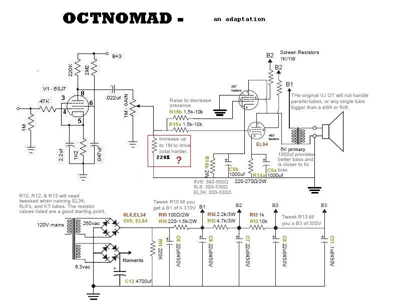 Octnomad on Single Ended Tube Amp Schematic